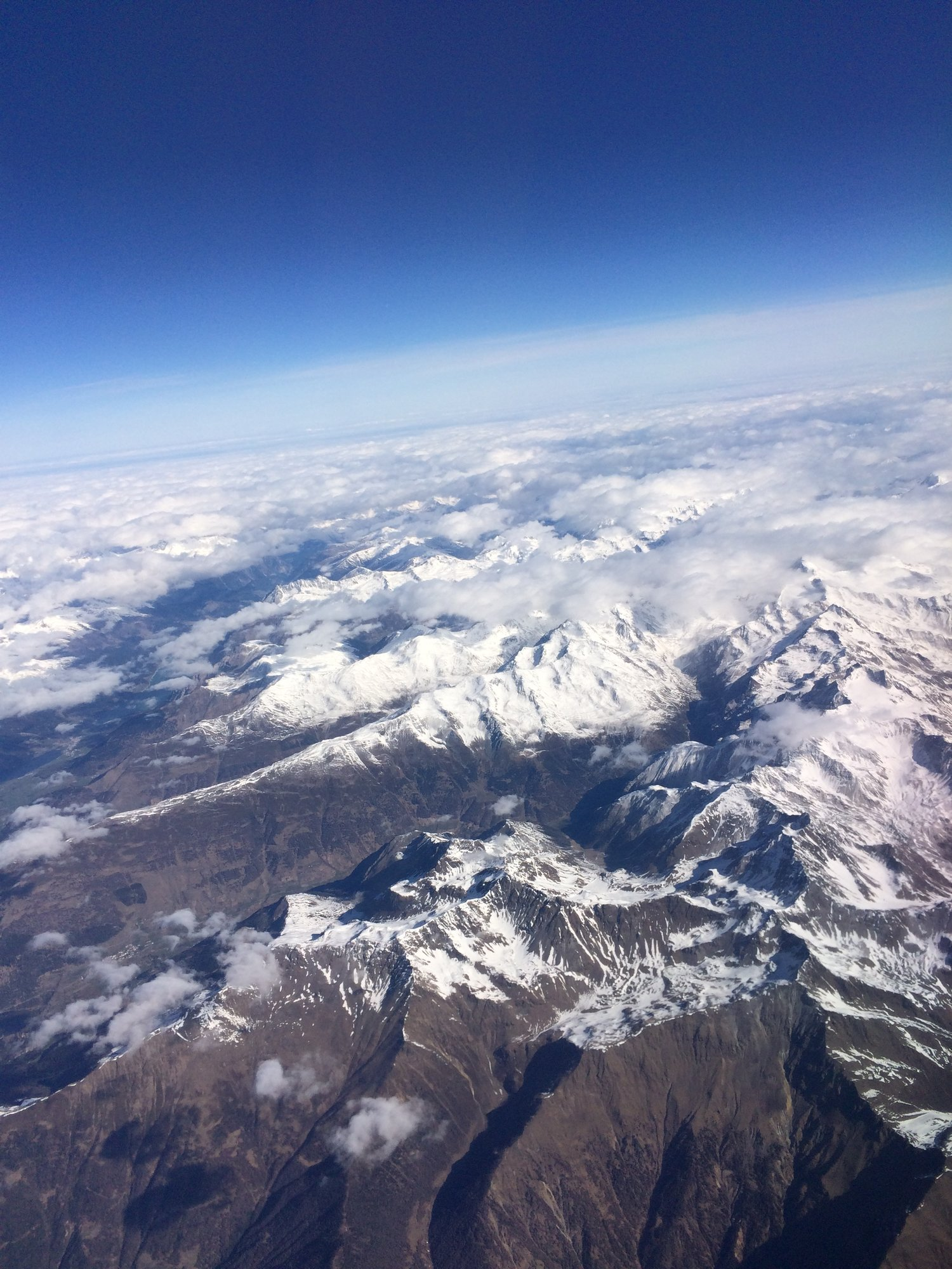airplane view of mountain