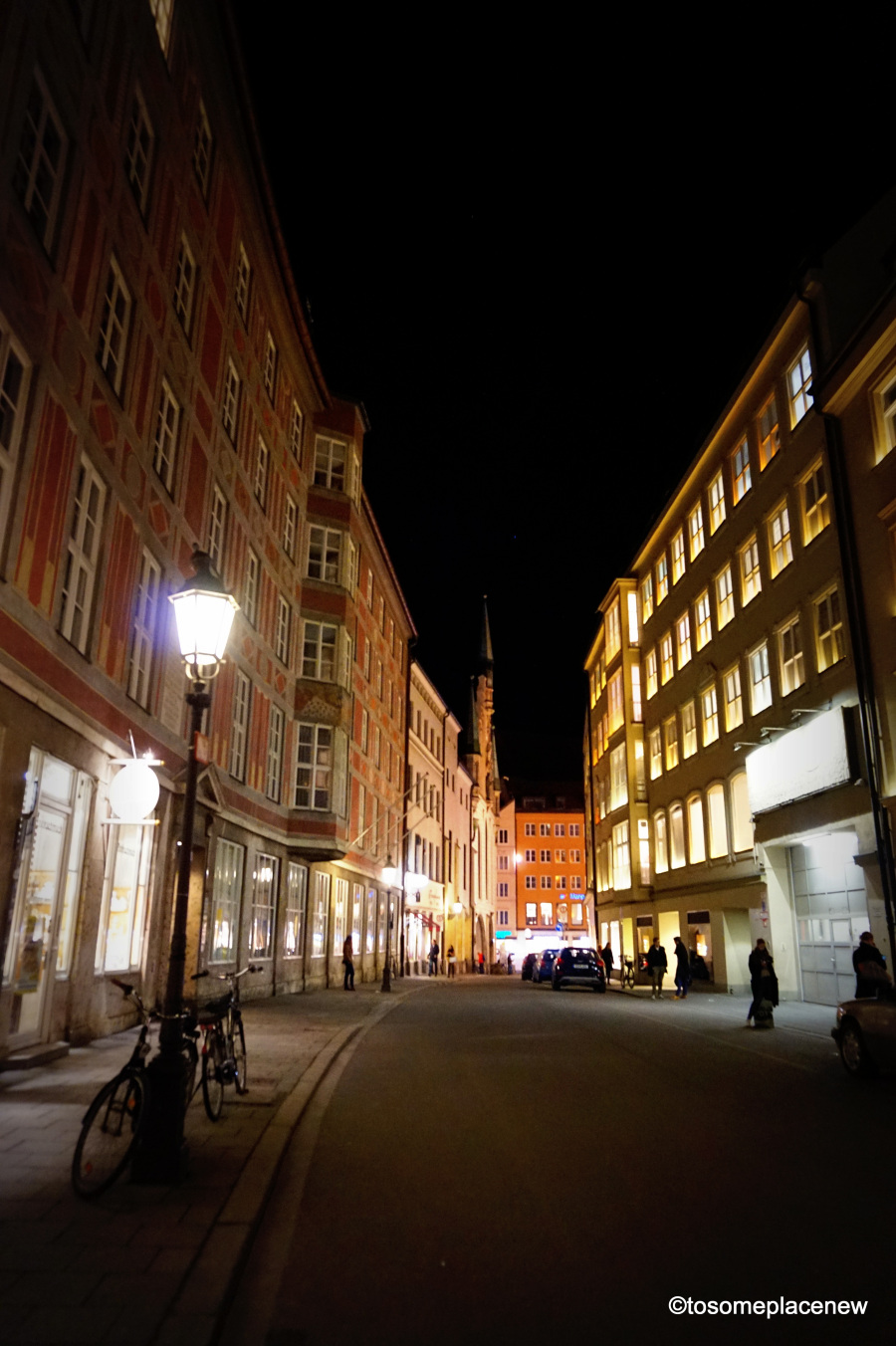 walking around Munich at night