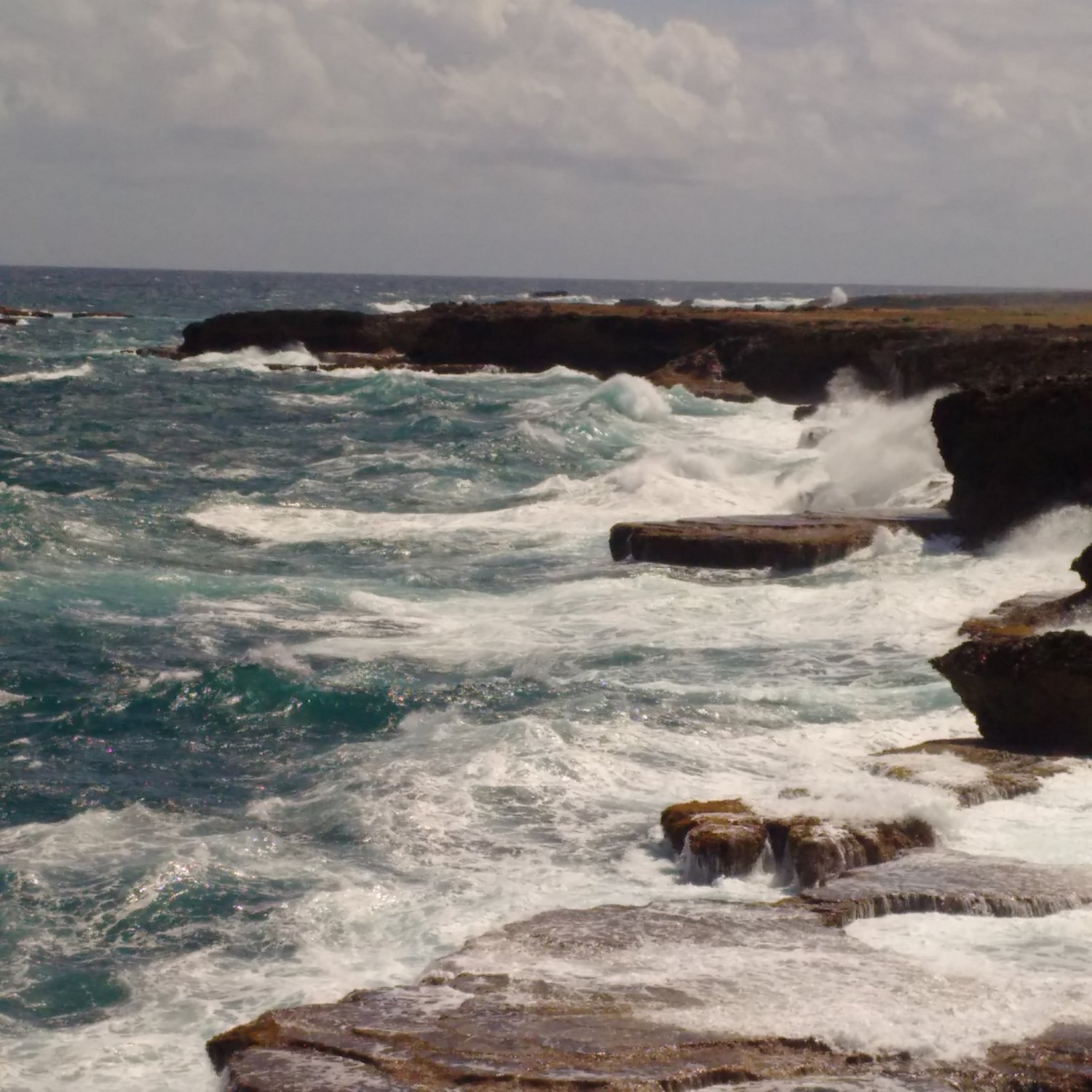 Barbados waves crashing
