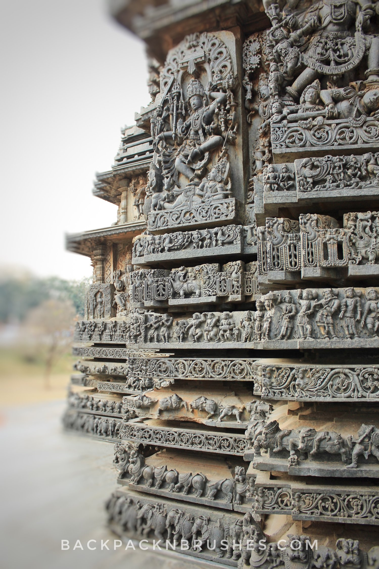 intricate temples