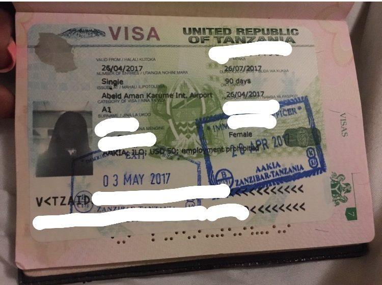 Zanzibar visa