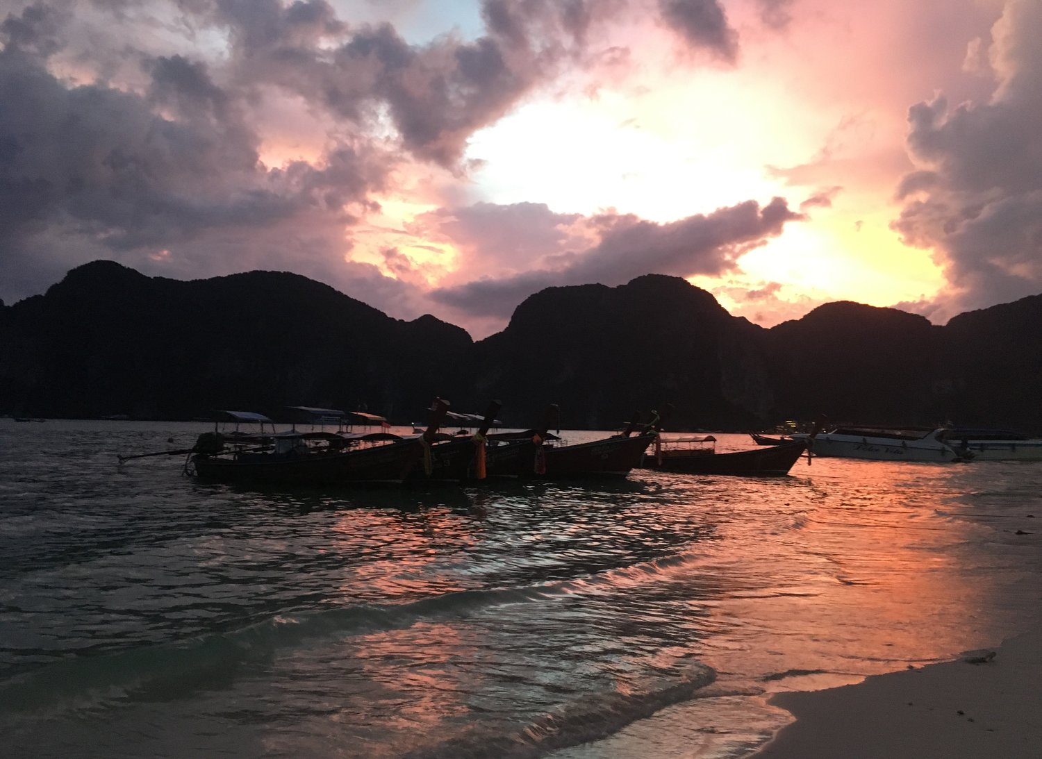 sunset in Southeast Asia