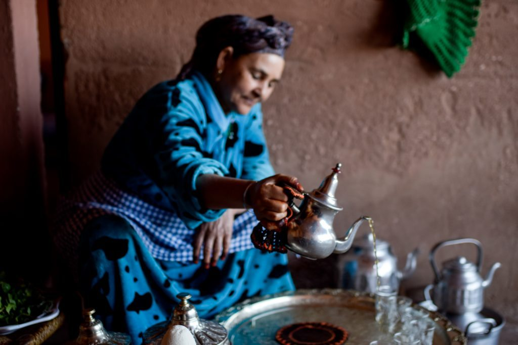 traditional tea drinking in Marrakesh