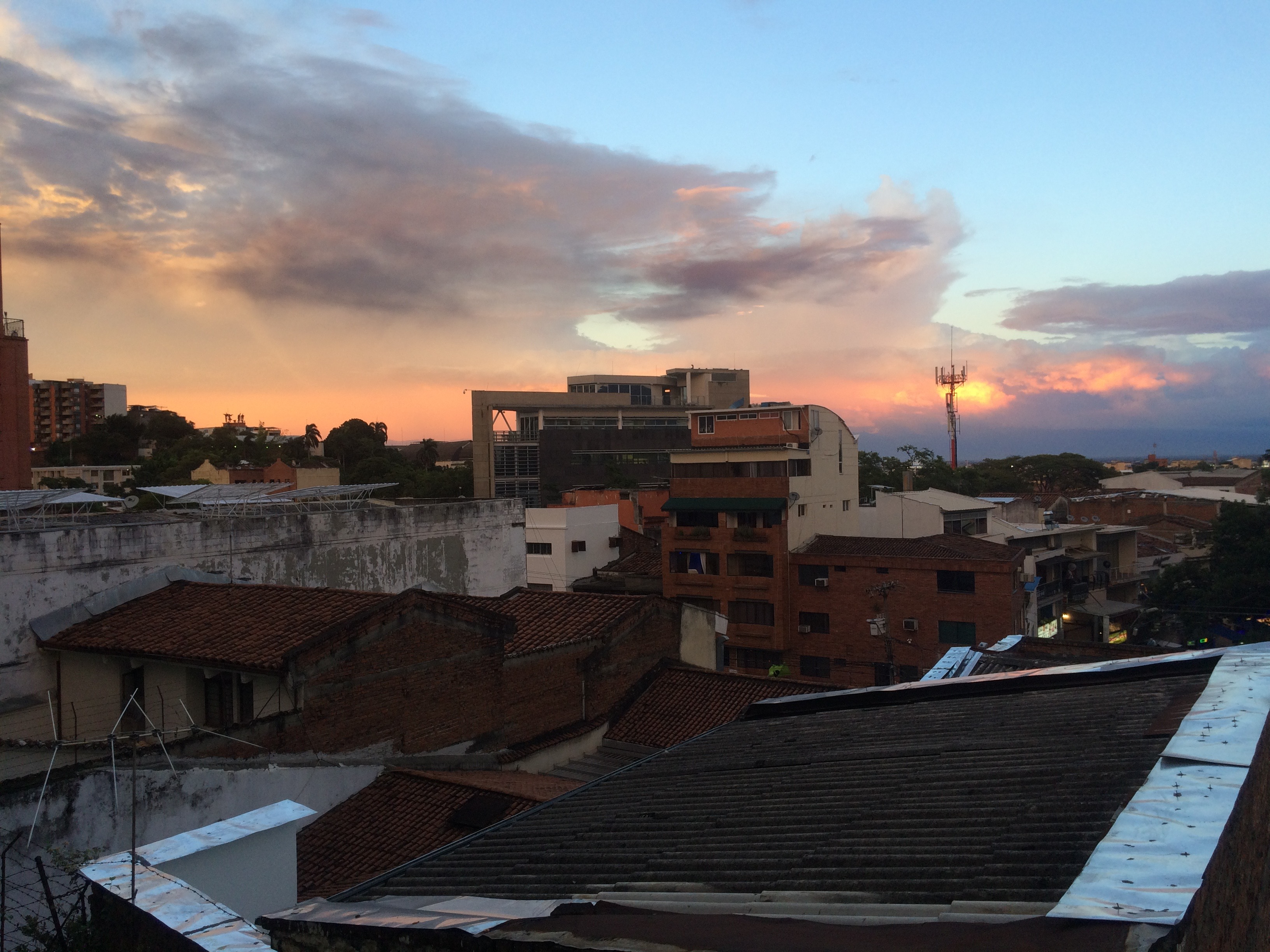 sunset in Cali, Colombia