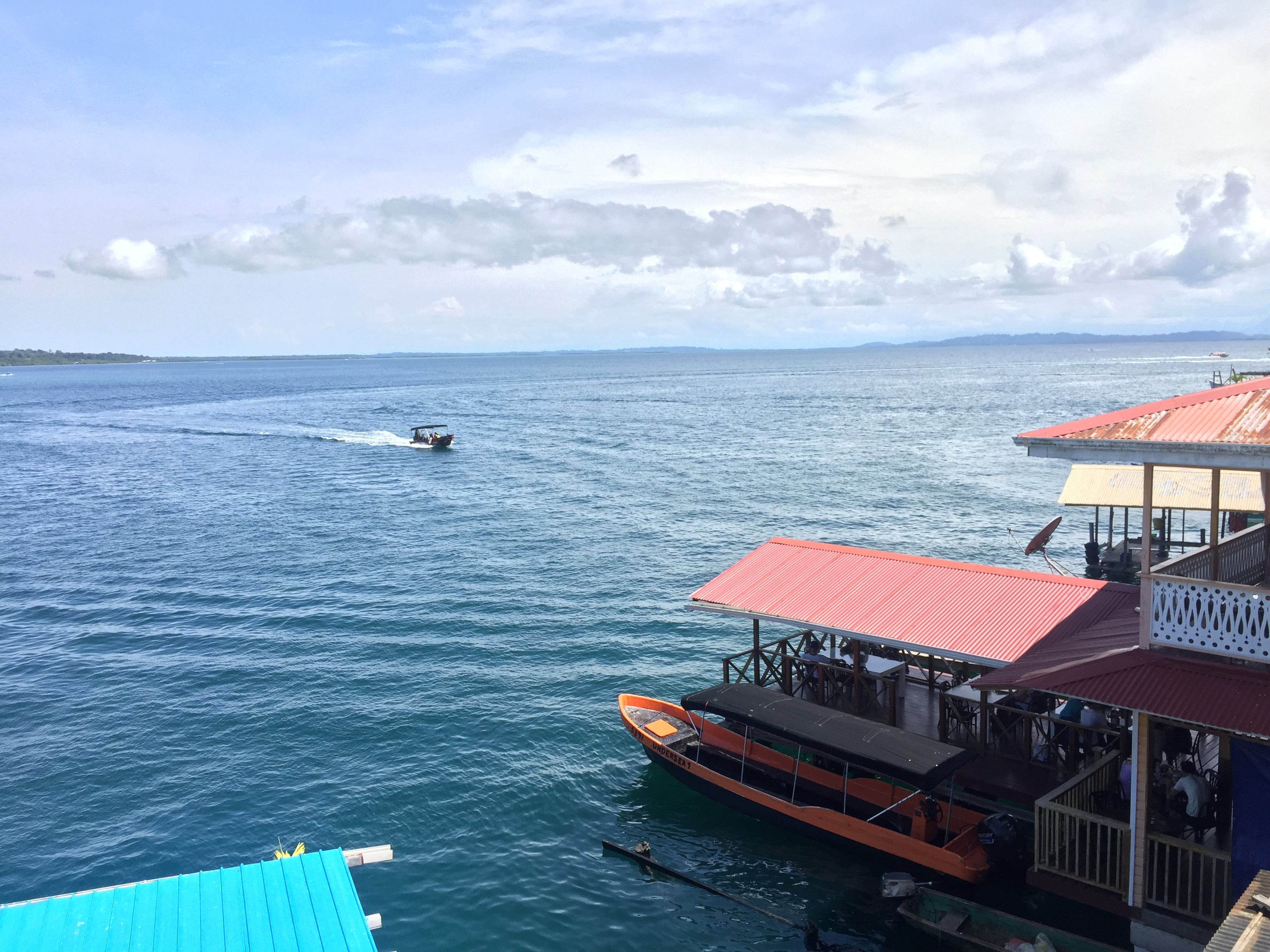 boating in Bocas del Toro, Panama