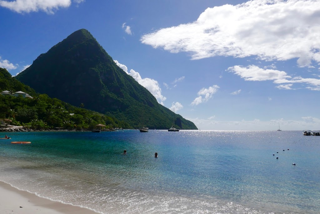 St. Lucia beach view