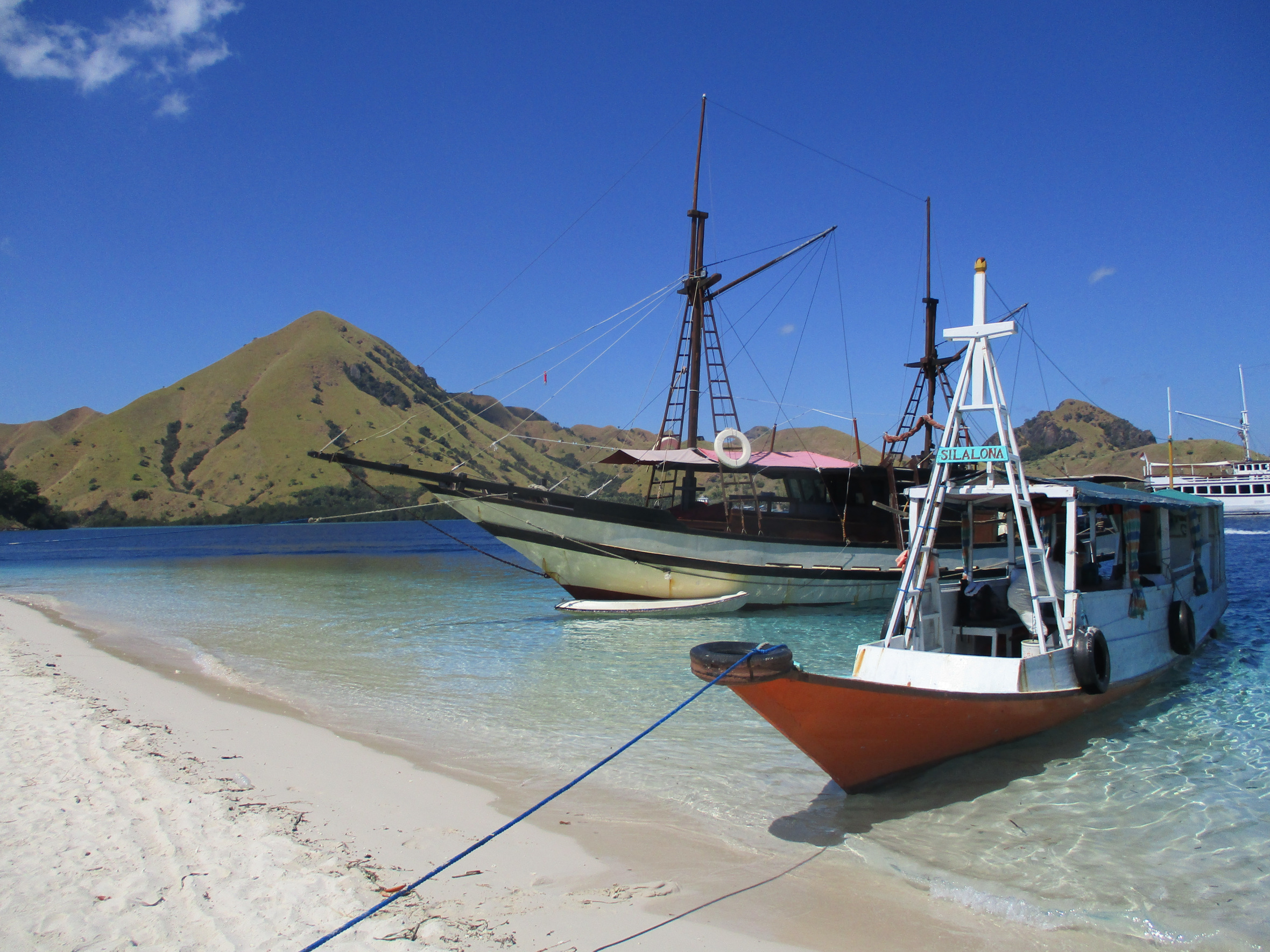 boat in Komodo Islands
