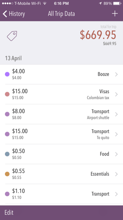 PackPoint Travel App