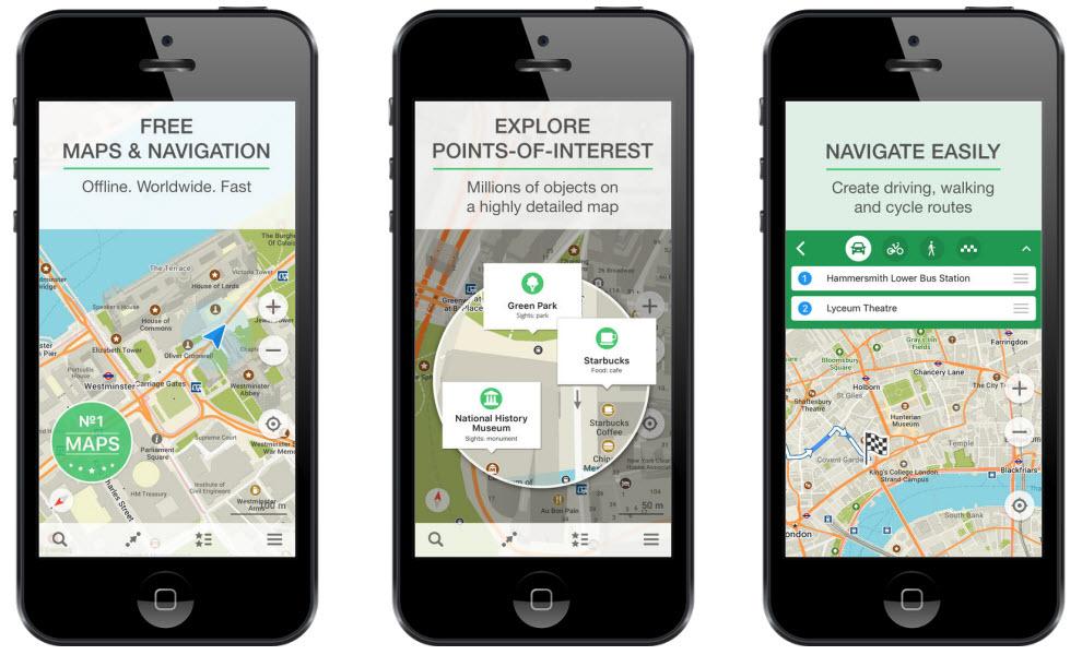 maps.me travel app