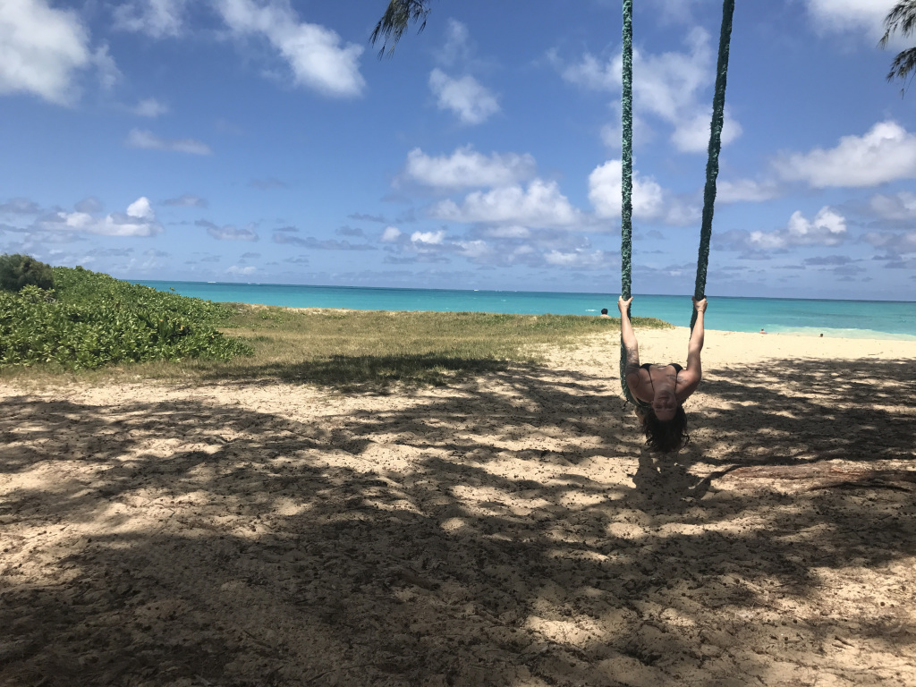 Beach photo Hawaii with swing